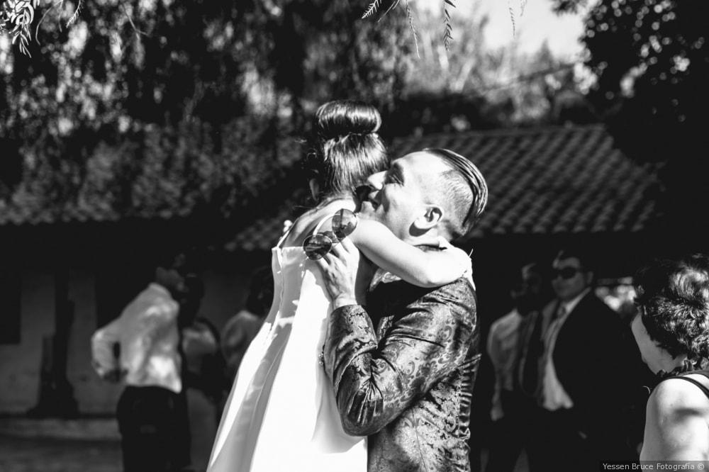 Novio y su hija día de la ceremonia