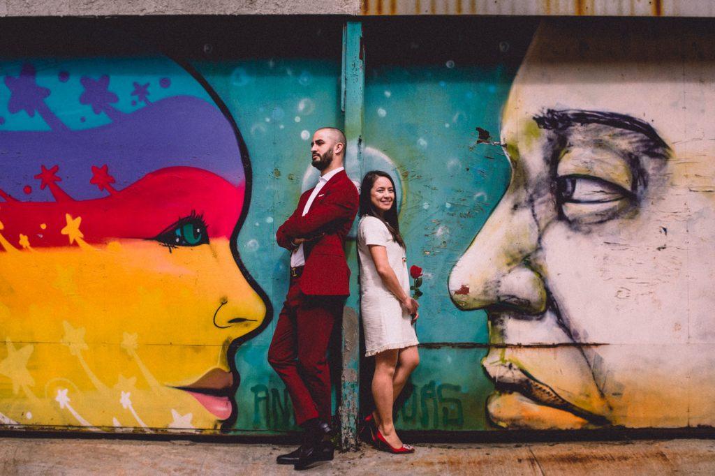 Murales en cerro alegre matrimonio