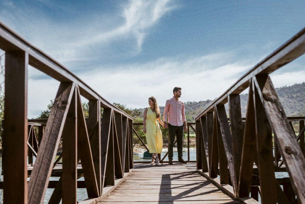 Lago de Viña Casas del bosque sesión preboda